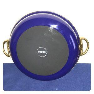 Copco San Lebowitz Spain no 711 Enamel Brass Pan
